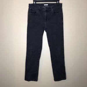 Eileen Fisher | Straight Leg Black Jeans Sz 10P